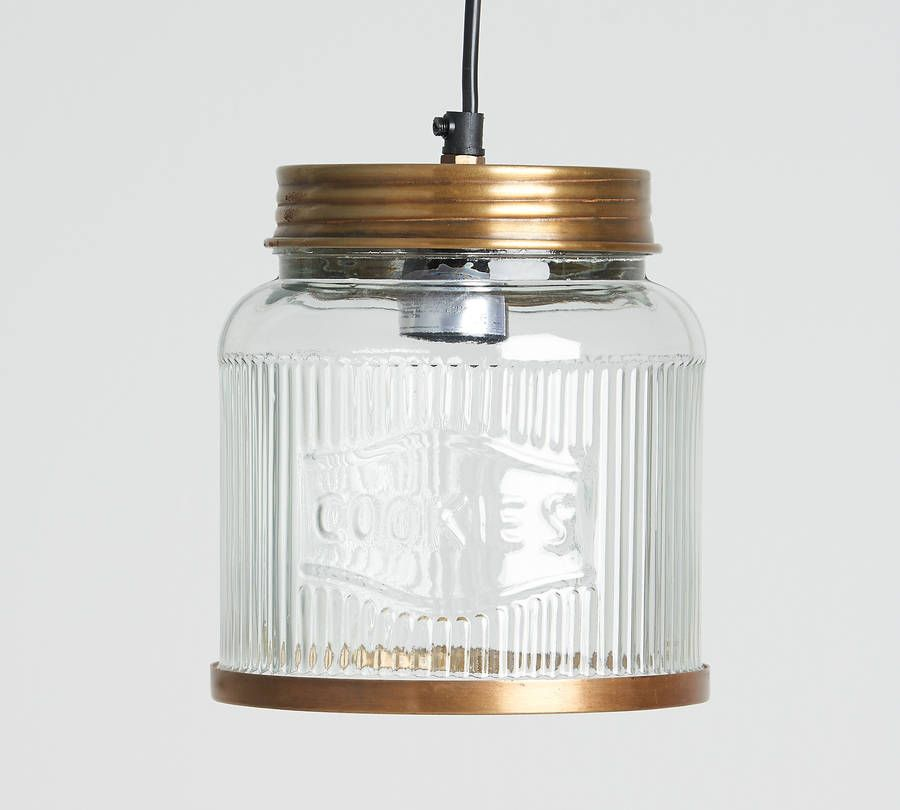 Glass cookie jar pendant light mozeypictures Images