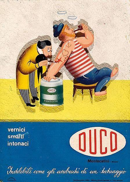 Duco vernici - Indelebili come gli arabeschi di un tatuaggio - 1955 -