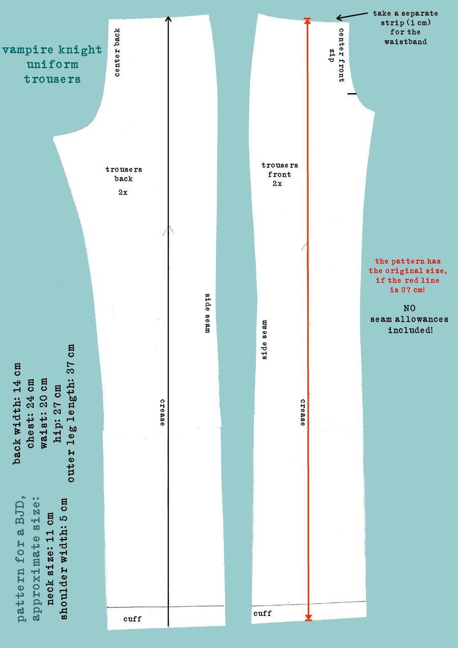 Vampire Knight Uniform Pattern Trousers by DemonViridian.deviantart ...