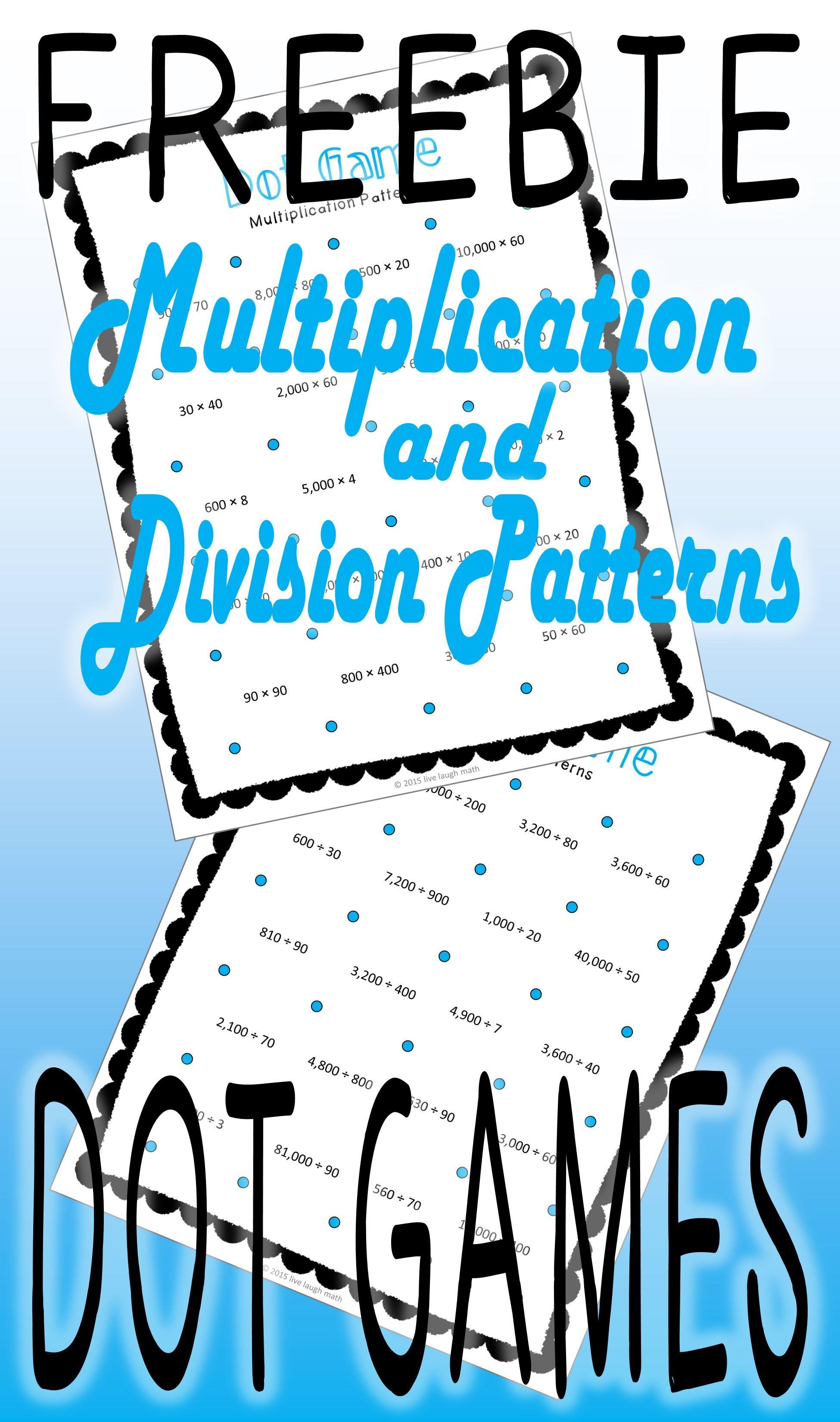 FREE Multiplication / Division Game | Teaching | Pinterest ...
