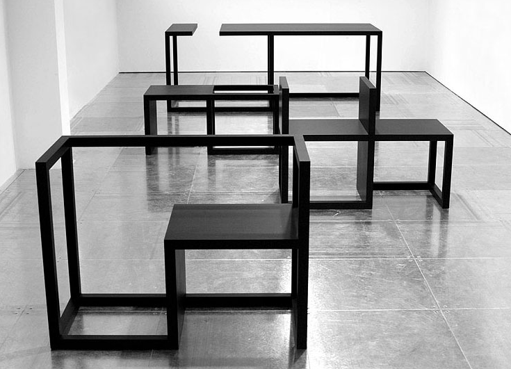 Fashion In A Box : Furniture Design : F System : Hedi Slimane : Exhibition  : Comme Des Garçon : Dover Street Market