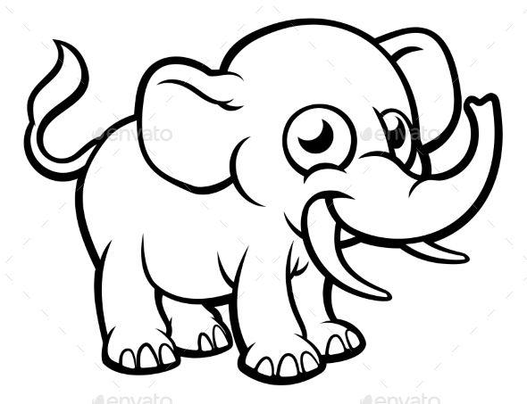Cartoon Elephant Character   Cartoon elephant, Animal ...
