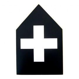 Houtprinthuisje XL cross/kruis