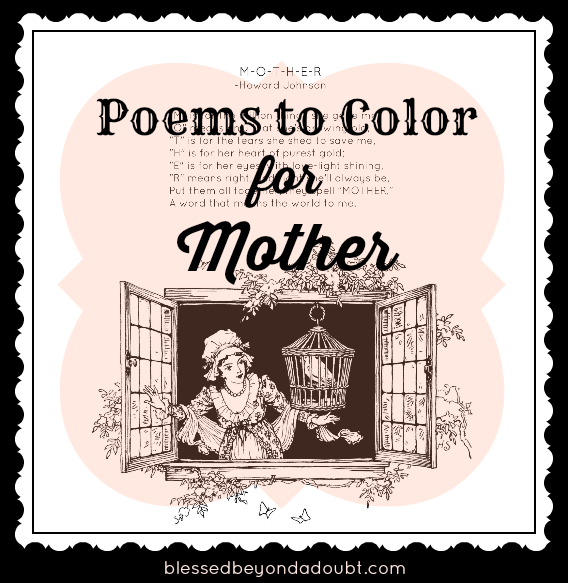 Free Mother S Day Poems To Color What S Hot On Blessed