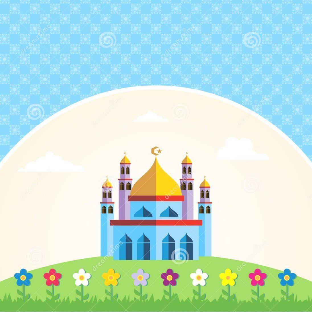 Gambar Masjid Kartun Gambar Animasi