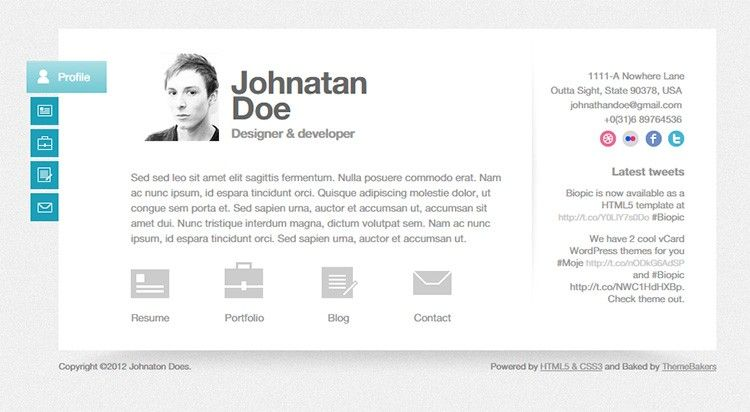 HTML5 Resume Templates 31+ Free Samples, Examples, Format - wordpress resume template