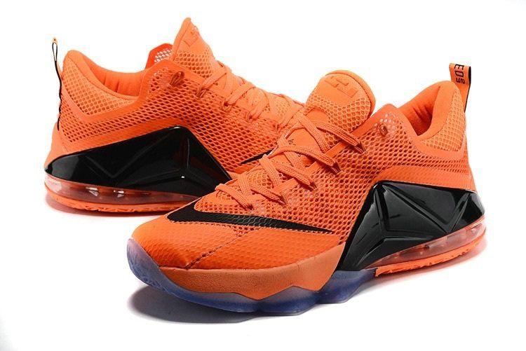 new product d5aea da37d Lebron 12 Low XII Floridians Bright Citrus Total Orange Black