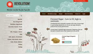 Stunning web interface design for an ecommerce organic online web store