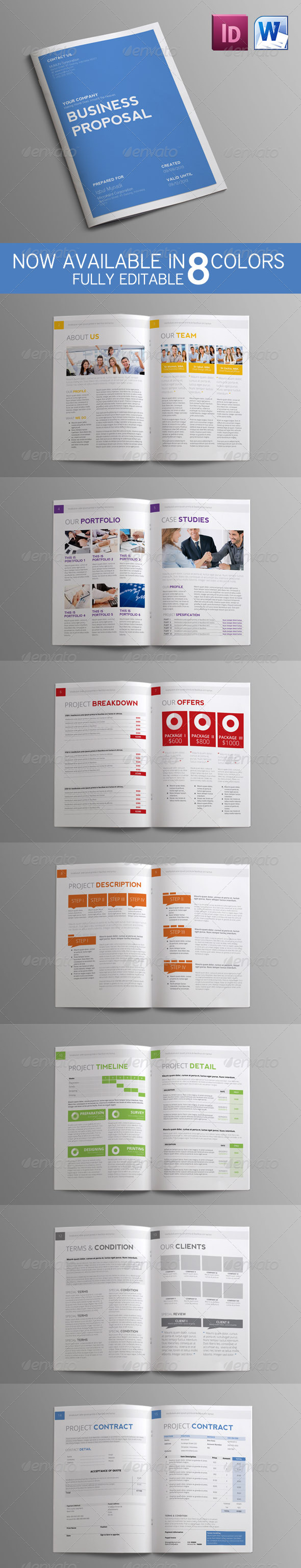 Sleman Clean Proposal Template - Proposals & Invoices Stationery ...
