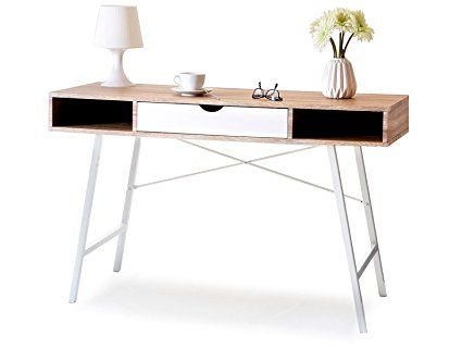 Lagertha bureau moderne en style scandinave chêne sonoma mat blanc mat amazon fr cuisine maison
