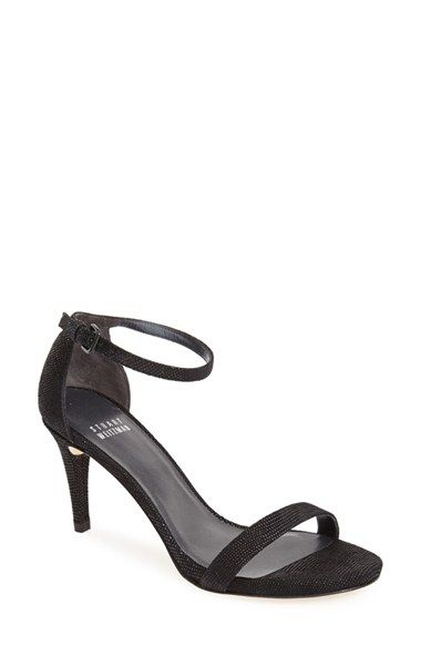 377c8f8c8ff Free shipping and returns on Stuart Weitzman  Nunaked  Leather Ankle Strap  Sandal (Women) at Nordstrom.com. Slim straps extend the contemporary