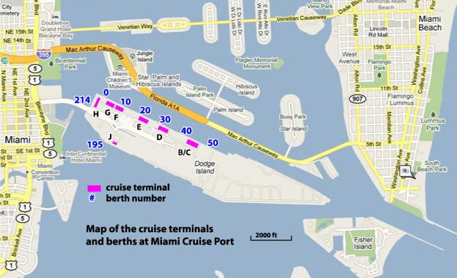 map of port of miami cruise terminal Miami Cruise Terminal Map Cruise Port Carnival Cruise Miami map of port of miami cruise terminal