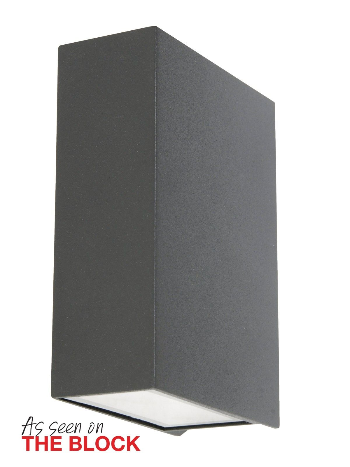 Ledlux Vice 6w Square Up Down Wall Bracket In Charcoal