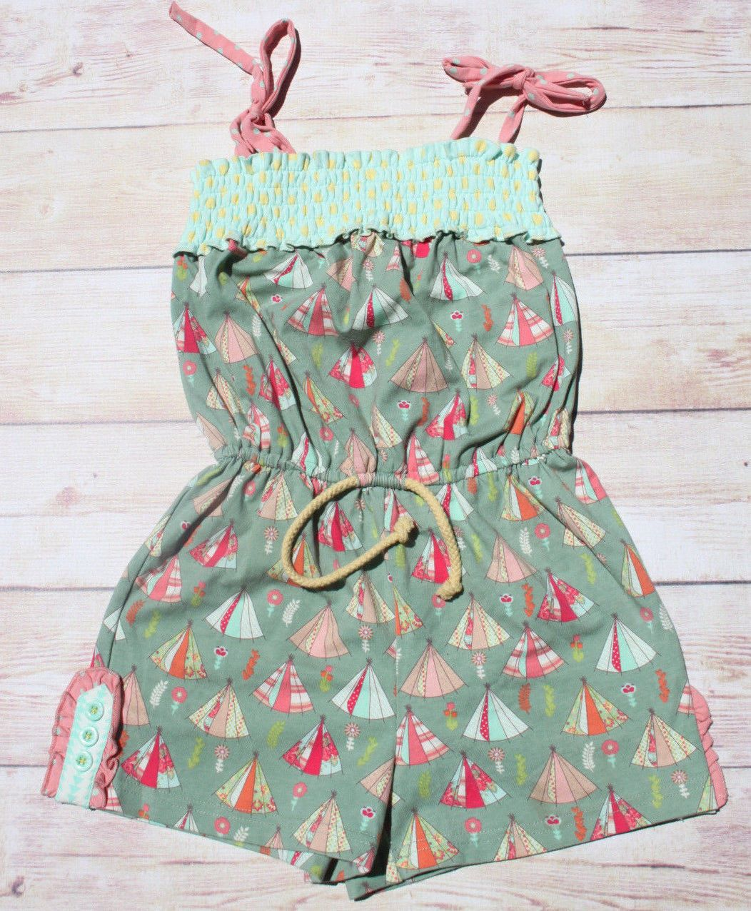 30891ac8383a Jumpsuits and Rompers 175528  Matilda Jane Campfire Stories Romper 4 Nwt  Sold Out Happy And Free Tent Teepee 5 -  BUY IT NOW ONLY   39.95 on eBay!