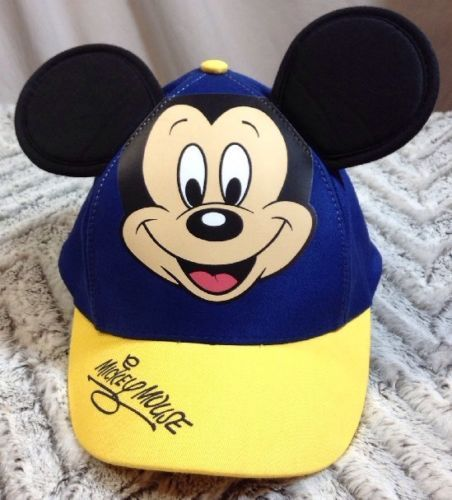 1ca5d52497b Disney Parks Mickey Mouse Hat Youth Baseball Cap Ears Authentic Original  Blue