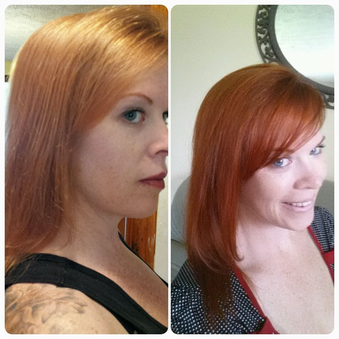 Henna Before Super Faded Salon Red And After Its Amazing And So