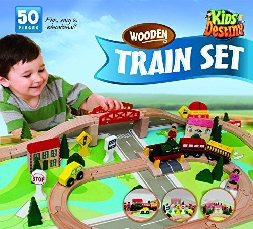 Wooden Train Set Compatible With Thomas