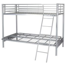 Mika Metal Bunk Bed With Futon Frame Only Silver