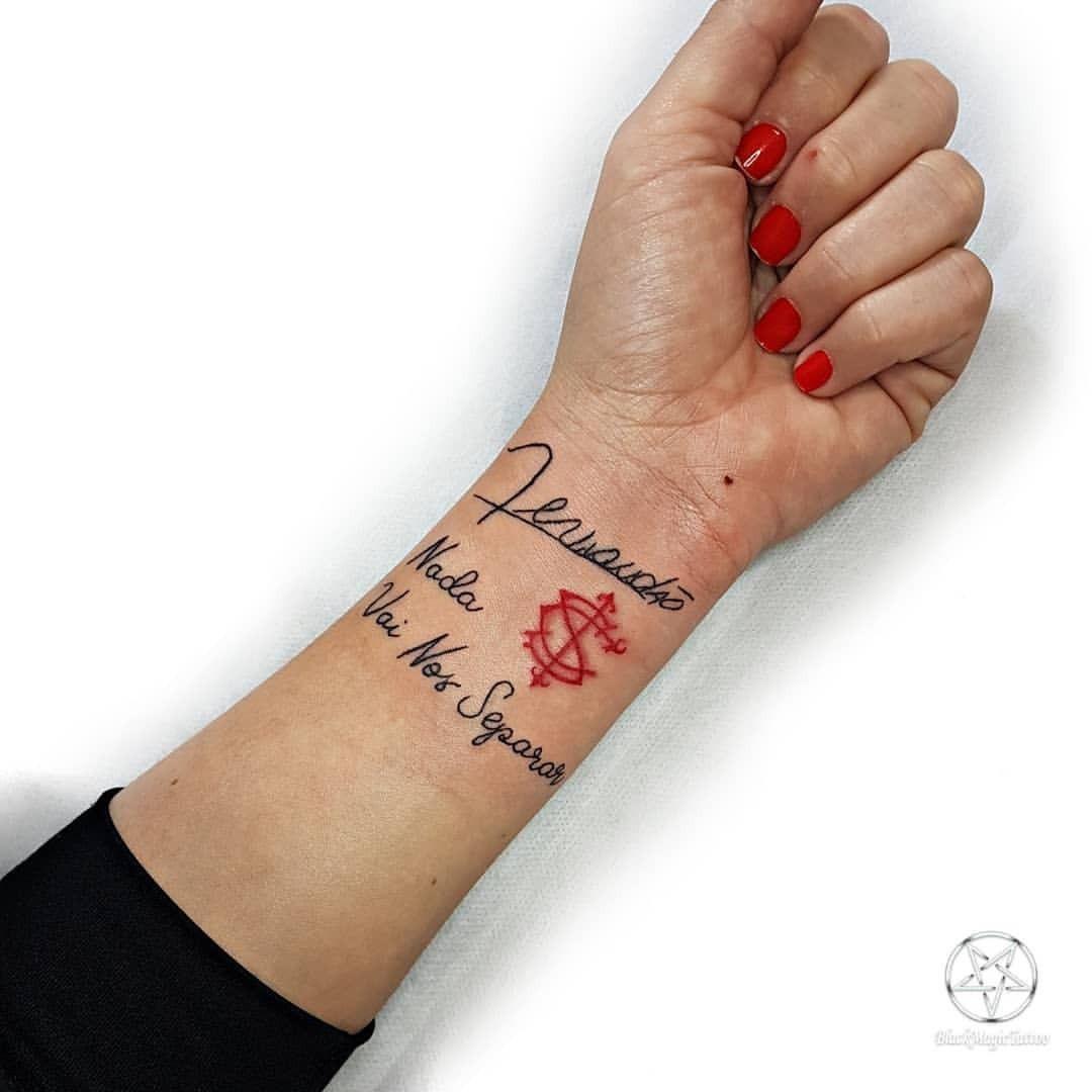 Tattoo Inter Frase Assinatura E Simbolo Obrigada Renata Pela