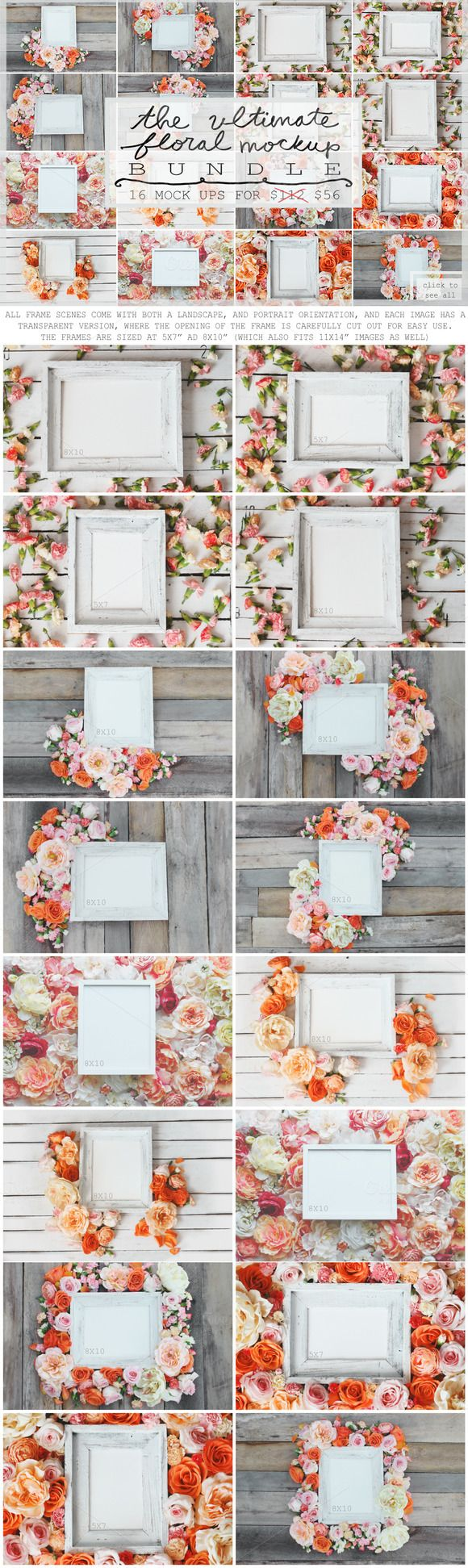 THE ULTIMATE FLORAL MOCK UP BUNDLE by WeLivedHappilyEverAfter on Creative Market