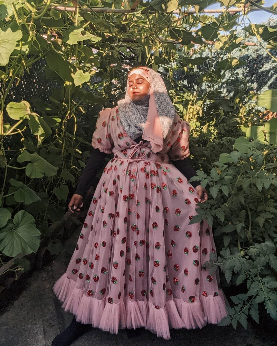 Lirika Matoshi S Strawberry Midi Dress Is Making Waves On Social Media Thanks In Part To The Rise Of Tiktok S Co Victorian Dress Fashion Cottagecore Aesthetic [ 1350 x 1080 Pixel ]