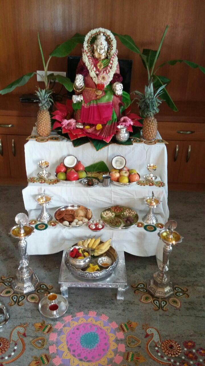 Wedding decoration ideas kerala  Lakshmi  Varamahakashmi Godus  Pinterest