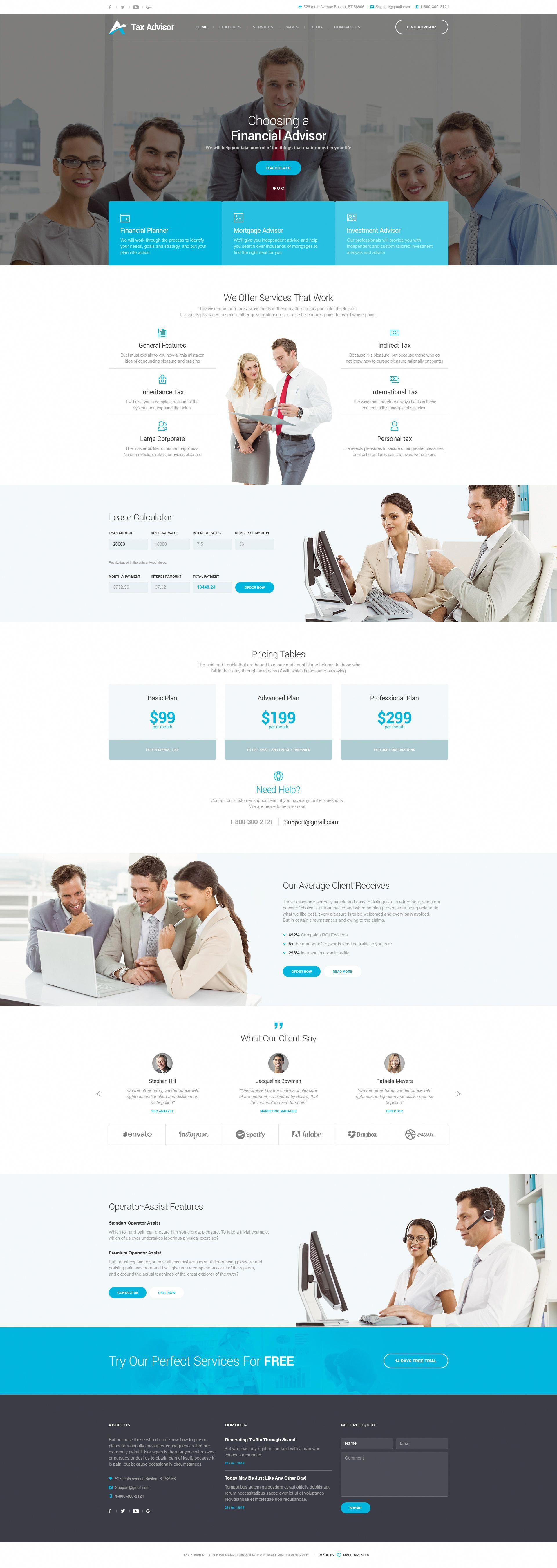 tax adviser financial consulting attorney psd template accountant