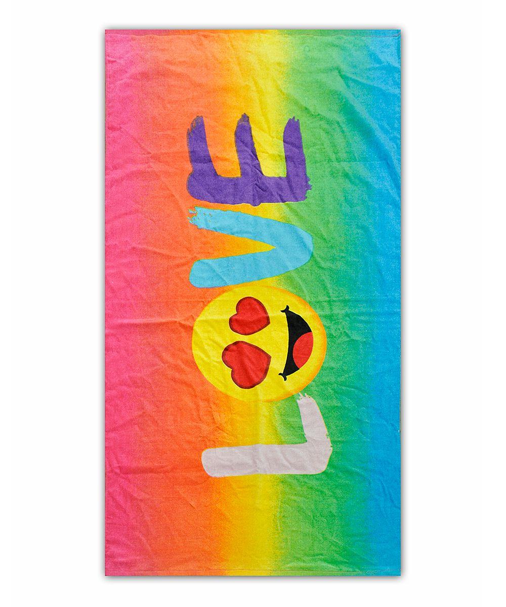 Emoji 'Love' Towel Emoji love, Pool party kids, Emoji gifts