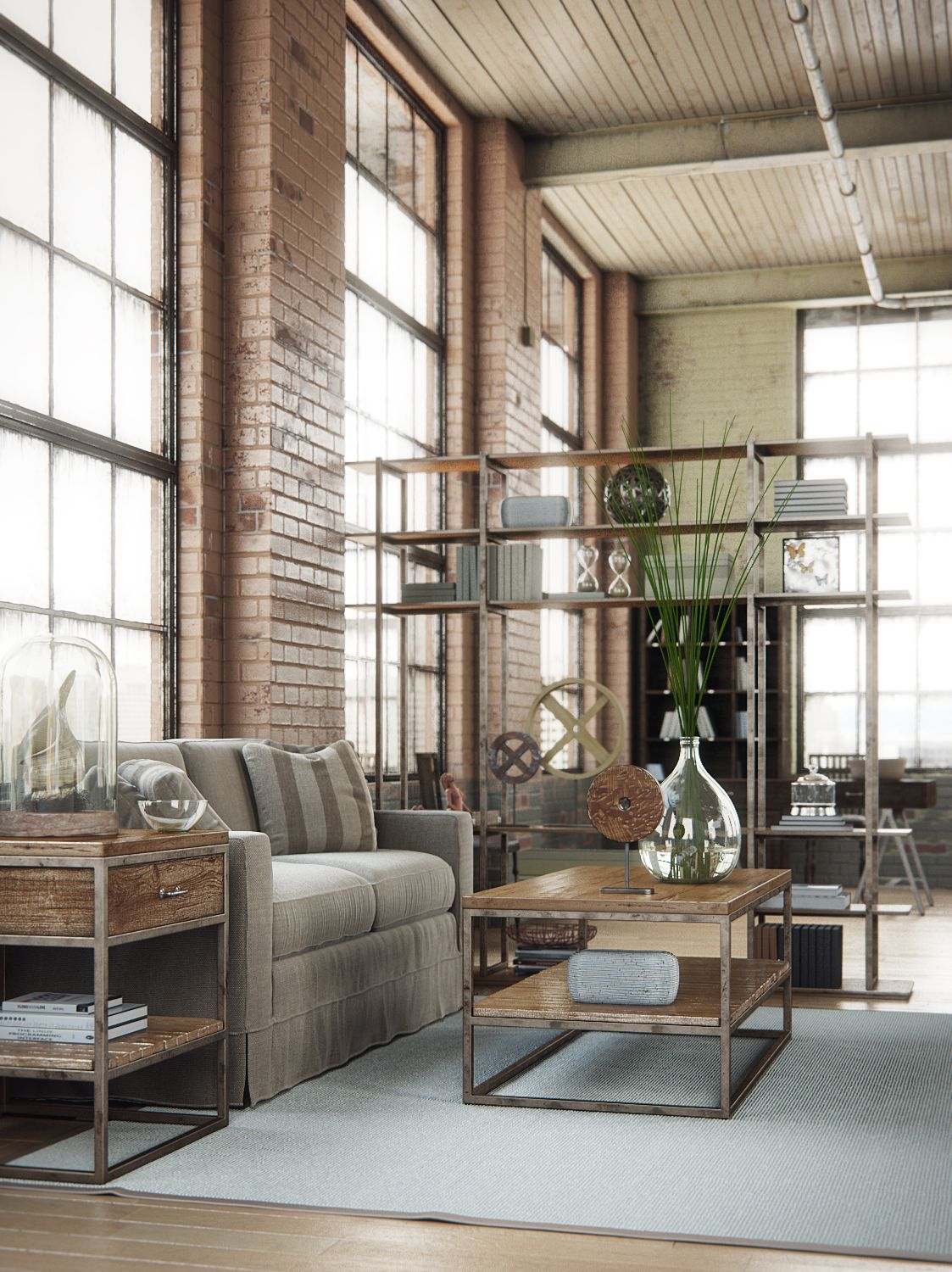 Industrial Design: Industrial Interior, Created By Alex Coman Using 3ds Max
