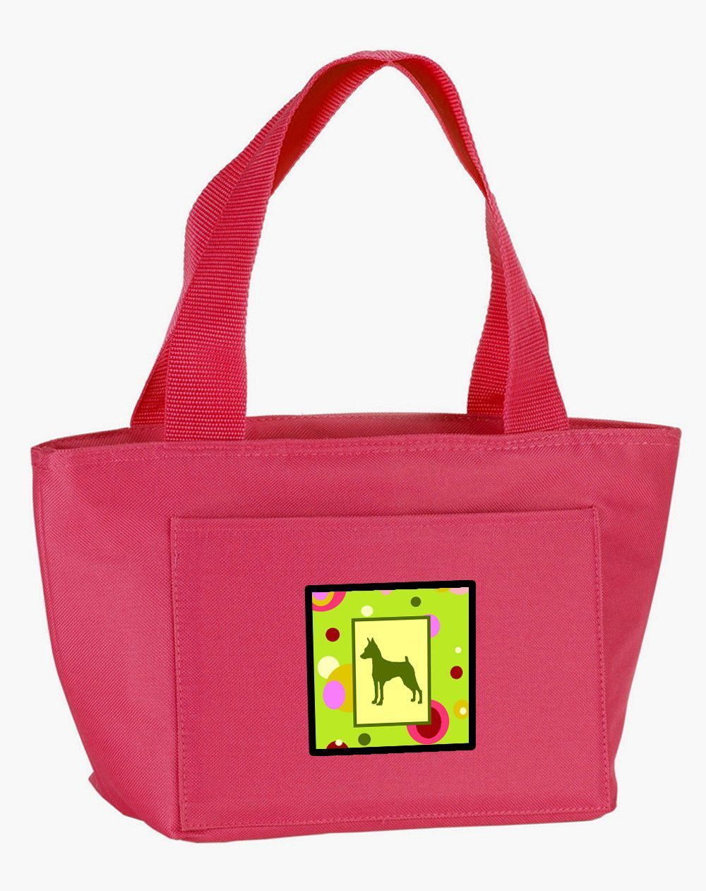 Lime Green Dots Min Pin Lunch Bag CK1104PK-8808