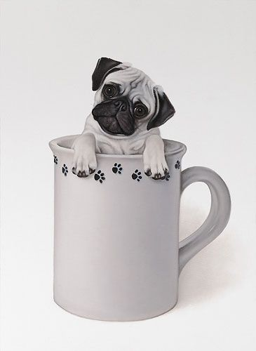 The Little Pug In A Mug Print by Brett Longley $48.95