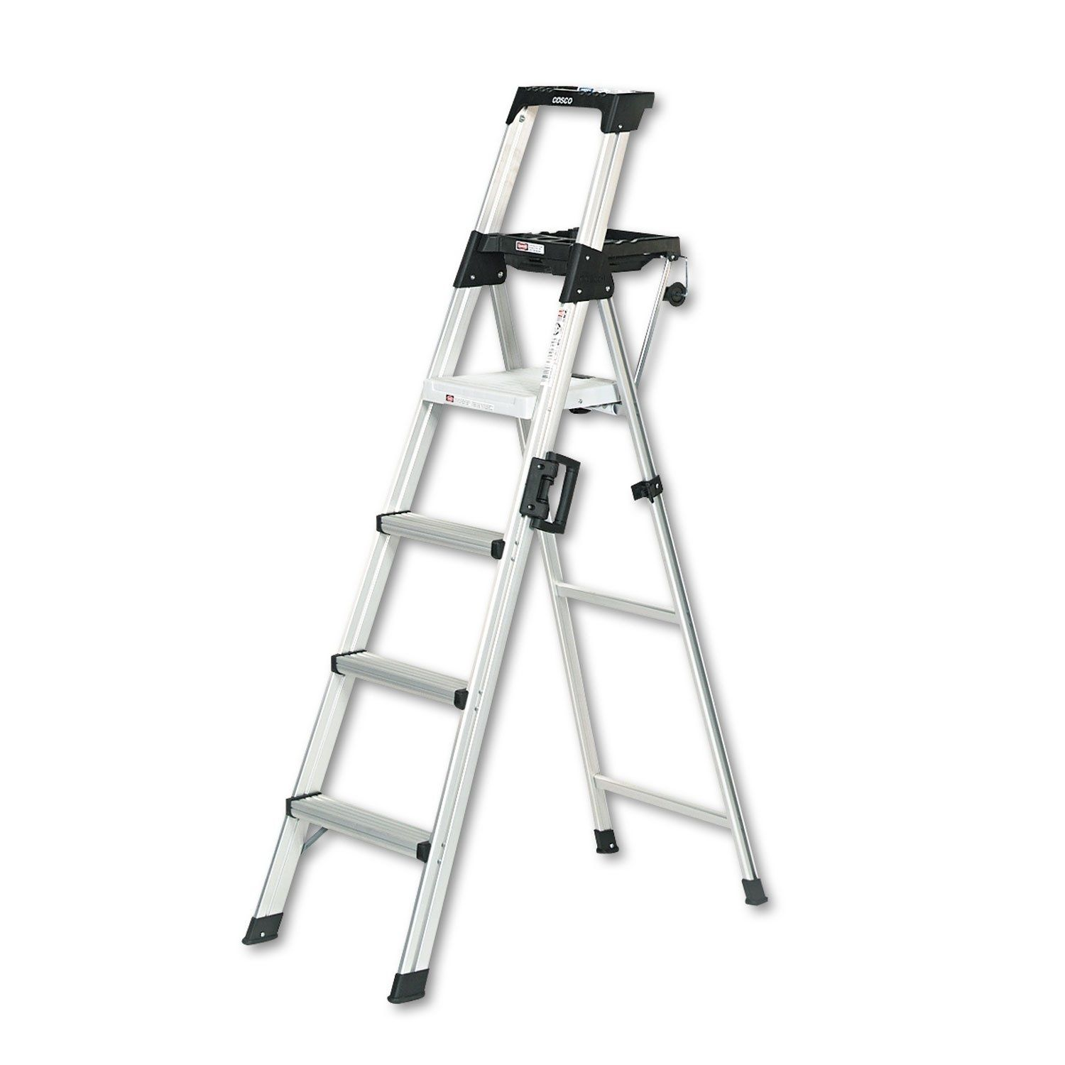 Miraculous Cosco Signature Series Aluminum Folding Step Ladder With Leg Caraccident5 Cool Chair Designs And Ideas Caraccident5Info