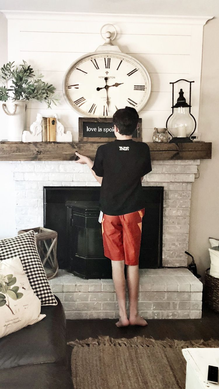 Photo of How to build a Faux Wood Mantle for $20
