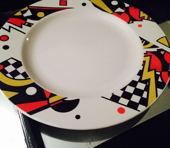 PoMo Abstract Syracuse China Dinner Plate Set