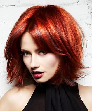 Red Hairstyles Sensationally Copper Retro Peach Curls