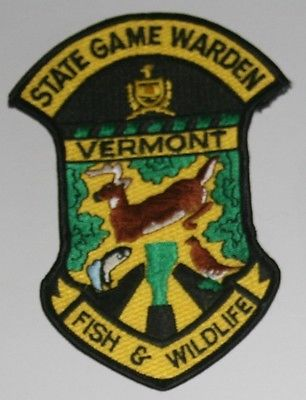 Vermont fish wildlife state game warden police patch for Vermont state fish