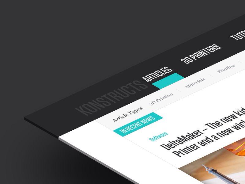 Blog Design - by Blaz Robar | #ui
