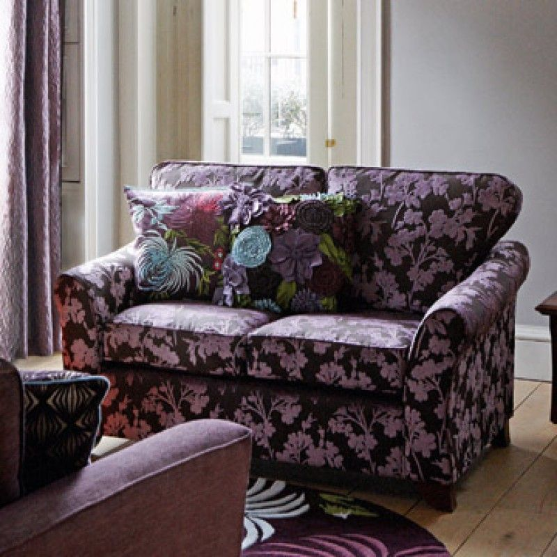 Marks And Spencer Leather Sofa: Abbey Petite Blossom Velvet Two-seater Sofa In Amethyst