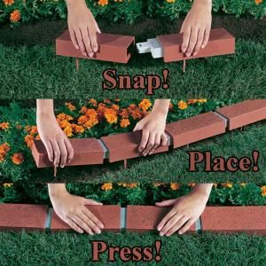 Argee 25 Ft Decorative Plastic Brick Edging Rg825 At The Home Depot Mobile Brick Edging Front Yard Landscaping Design Easy Landscaping Front Yard