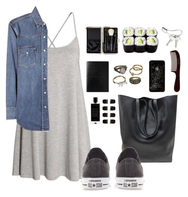 """""""#141"""" by inesteixeira2012-1 ❤ liked on Polyvore featuring H&M, Yves Saint Laurent, Converse, Agonist, Mudd, Bobbi Brown Cosmetics, Forever 21, Mason Pearson and Georg Jensen"""