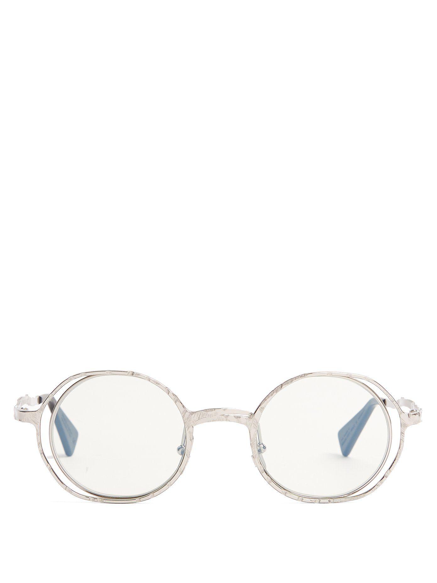 round frame sunglasses - Metallic Kuboraum QrXZM2A5