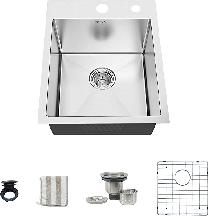 torva 18 inch drop in kitchen sink 16