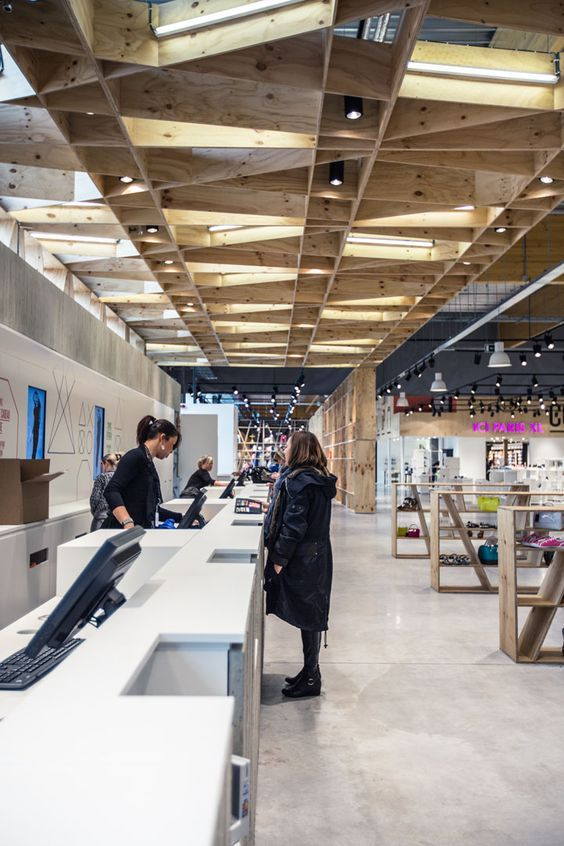 Upside department store by Atelier (M + G), Herstal store design: