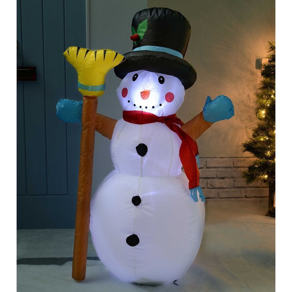 snowman inflatable christmas decoration 120 cm large with led xmas outdoor decor