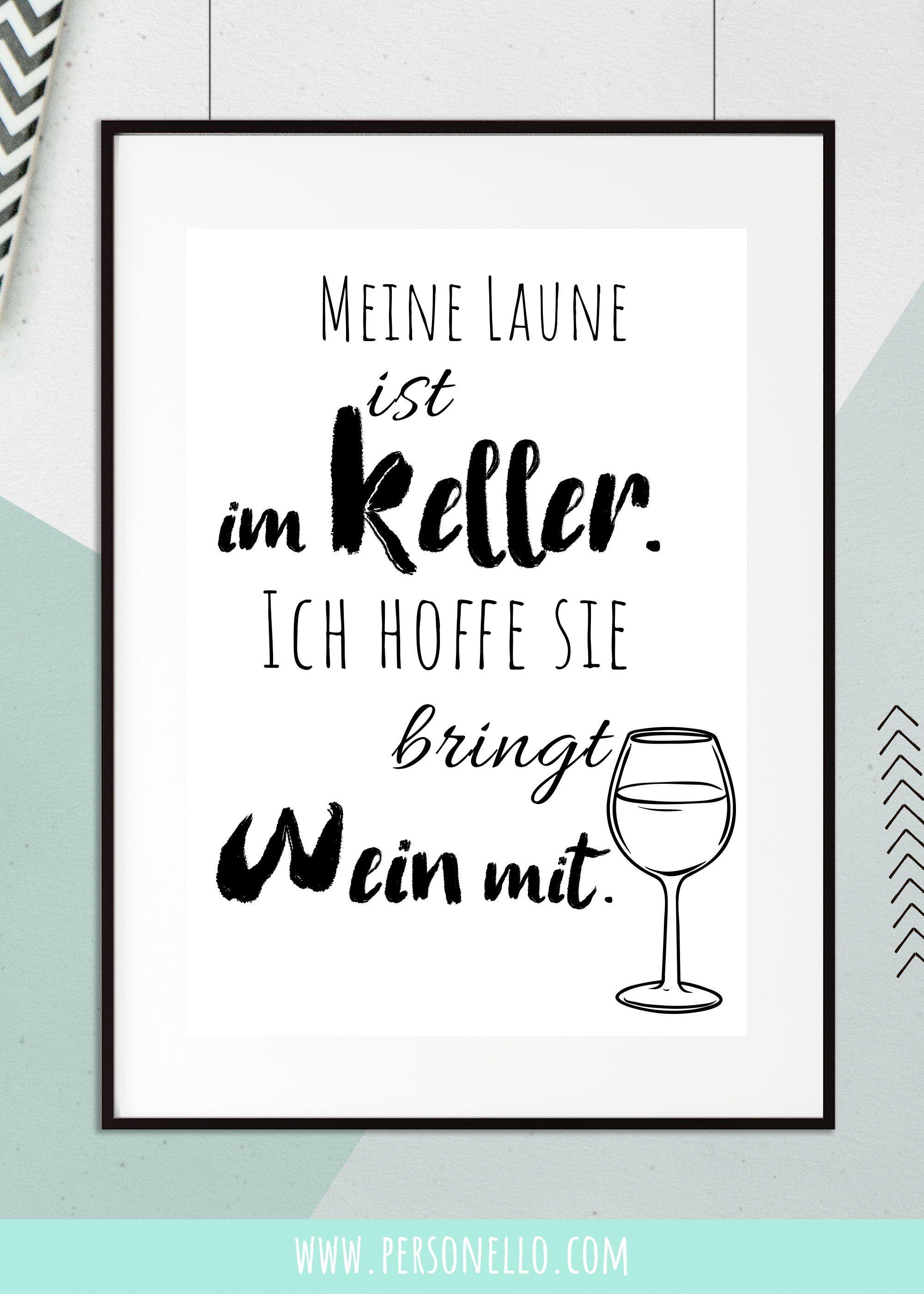 """Kreieren Sie Ihr eigenes Poster: """"Meine Stimmung ist im Keller, ich hoffe, es bringt …   – Fotogeschenke – DIY / Basteln 2.0"""
