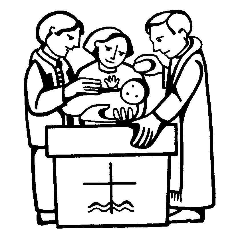 The Sacrament of Baptism Coloring Pages | Baptism | Pinterest