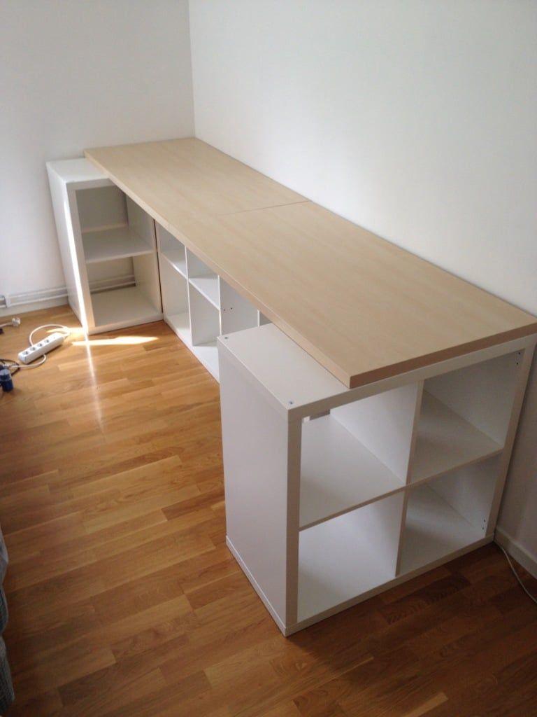 KALLAX desk ideas: Four ways to set up a workstation