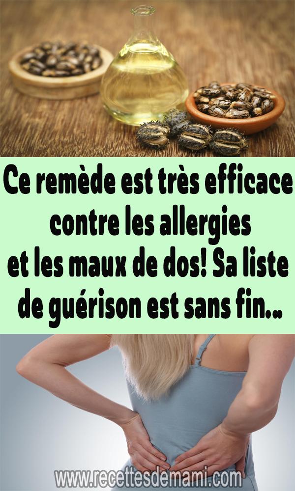 Ce remède est très efficace contre les allergies et les maux de dos! Sa liste …   – remèdes