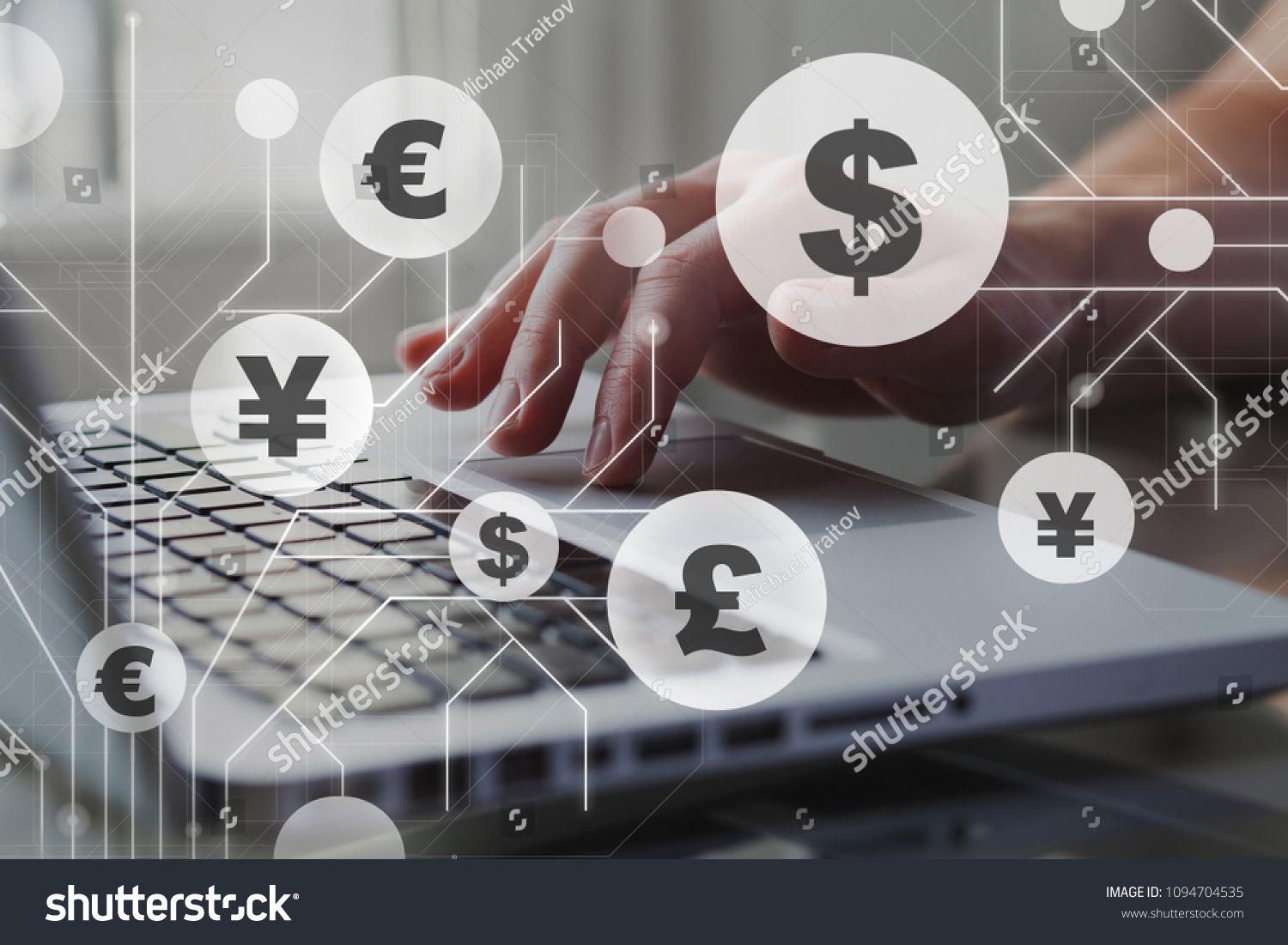 Foreign Currency Exchange Concept Forex Trading Dollar Euro