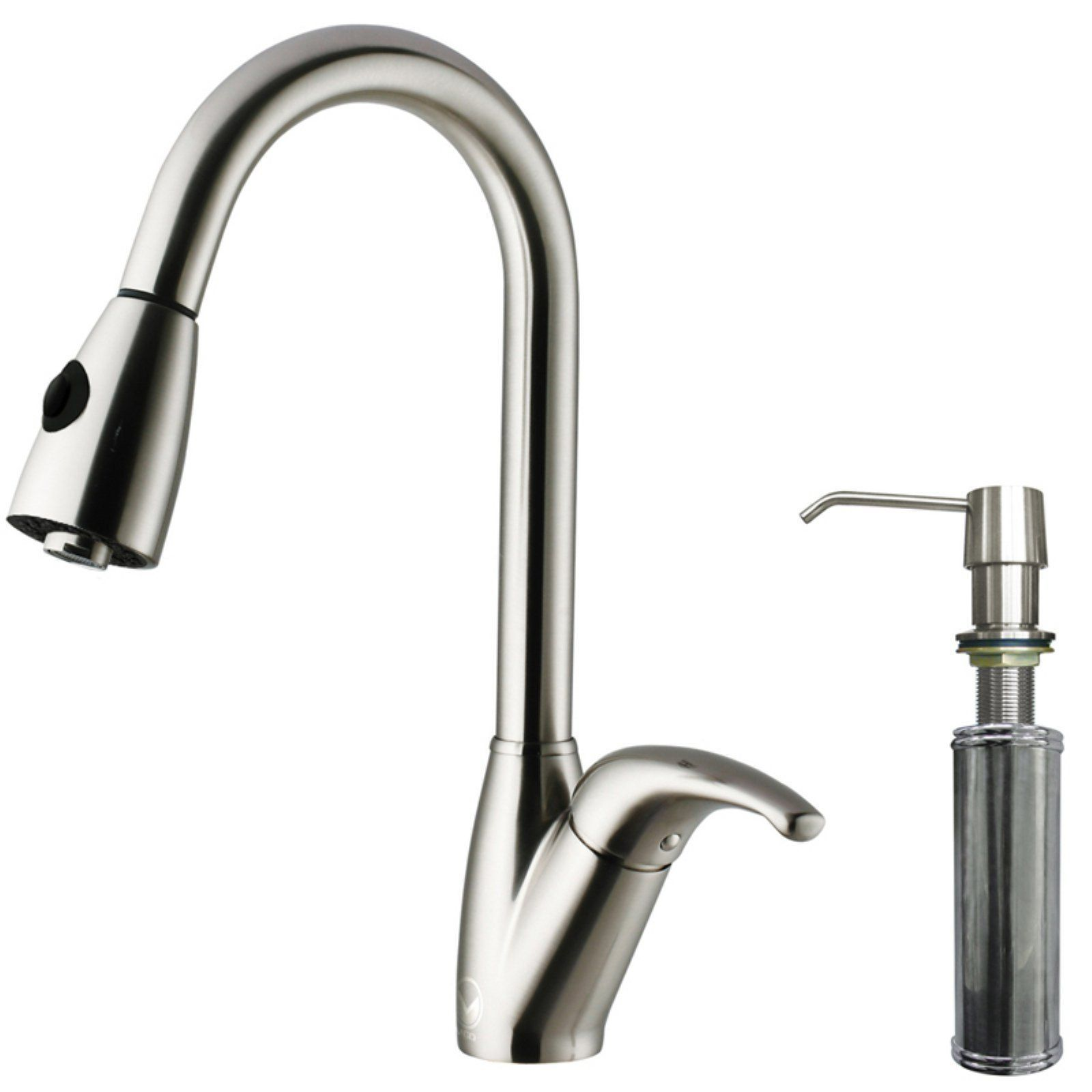 Vigo Vg02017stk2 Single Handle Pull Down Kitchen Faucet With